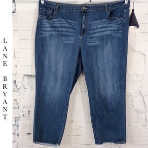 Lane Bryant Raw Hem Denim Capri Pants